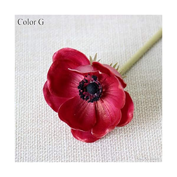 ZHHYJ Artificial Flower Touch Artificial Anemone Flowers Silk artificiales for Autumn Fall Wedding Fake Flowers Accessries Wreath