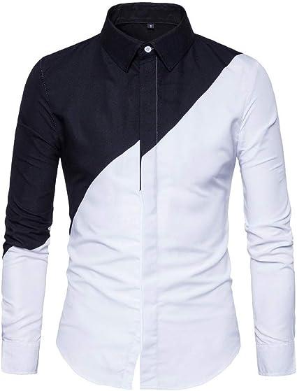 LIUXING-TUMI Estilo de la Moda Camisa de algodón for Hombre ...