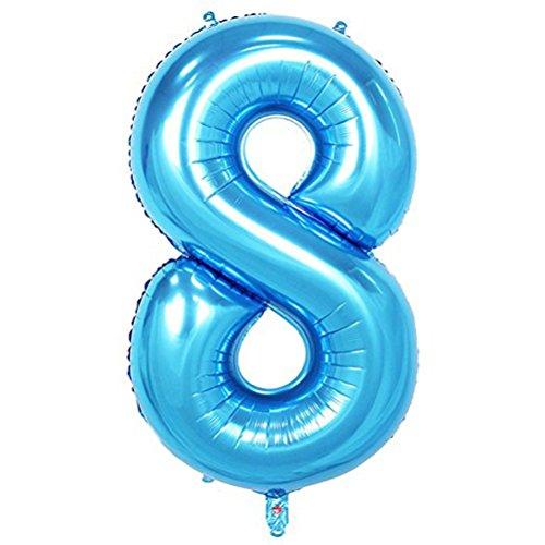 Tellpet Blue Number 8 Balloon, 40 Inch