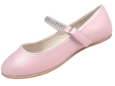 9f47315ac988 Girls Diamante Ballerina Ivory Pink Flat Party Wedding Bridesmaid Shoes  10-2 UK (11