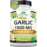Pure Garlic 1,500 mg per Soft Gel Maximum Strength 150 Soft gels Promotes Healthy Cholesterol Levels