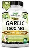 Pure Garlic 1,500 mg per Soft Gel Maximum Strength 150 Soft gels Promotes