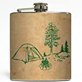 Campfire Tales - Liquid Courage Flasks - 6 oz. Stainless Steel Flask