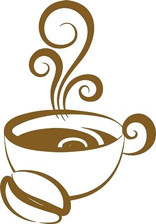 GRAZDesign Küchen Wandtattoo Kaffeetasse - Sprüche für die Küche  Kaffeebohne - Wandsticker Küche Tasse mit Kaffee - Wandtattoo Küche  Kaffeezeit / ...