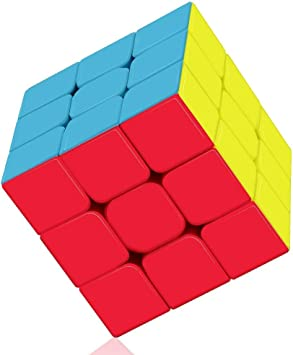 Blossom Speed Cube Puzzle 3x3x3 Stickerless Smooth play Magic Cube (Multi-Color)