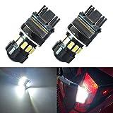 XT AUTO Super Bright 600 Lumens 3157 T25 3156 3056 3057 5630 Chip White LED Turn Signal Stop Parking Backup Reserve Light Bulbs 2-pack