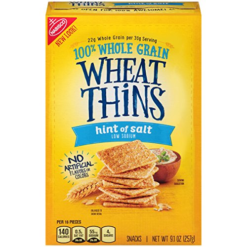 Wheat Thins Hint of Salt Crackers, 9.1 Ounce