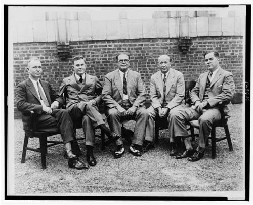 Photo: Coaches,W.A. Alexander,Tad Jones,Yale,Pop Warner,Stanford,Knute Rockne,c1925