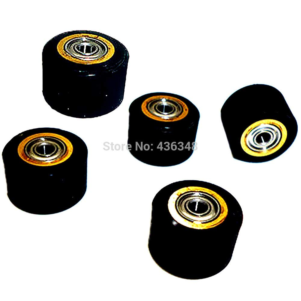 FINCOS 1/2/3/4/5/6/10pcs 3mmx11mmx16mm Pinch Roller Wheel for Roland Vinyl Plotter Cutter Extra Long Life Wheel Bearing Paper - (Color: 10pcs) by FINCOS (Image #5)