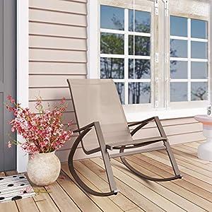 Modern Outdoor Textilene Rocking Lounge Chair