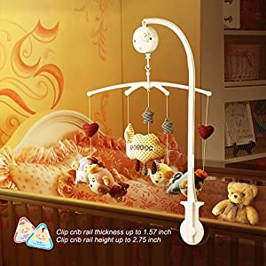 VicTsing 34 inch Long Extended Baby Crib Mobile Music Box Holder Arm Bracket Nut Screw Bed Bell without Toys