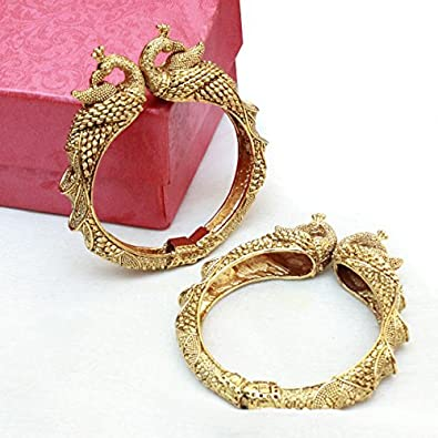 Shiv/_Collection Indian Bollywood Style Gold Plated Openable Bracelet for Women Girls