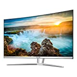 VIOTEK NB32CW 32-Inch LED Curved Professional Monitor, Bezel-Less Samsung VA Panel, 75Hz 1080P Full-HD FreeSync VGA HDMI VESA, Updated Version (White)