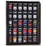 30 Zippo Lighter Display Case Cabinet Holder Wall Rack -Black for displaying in retail box