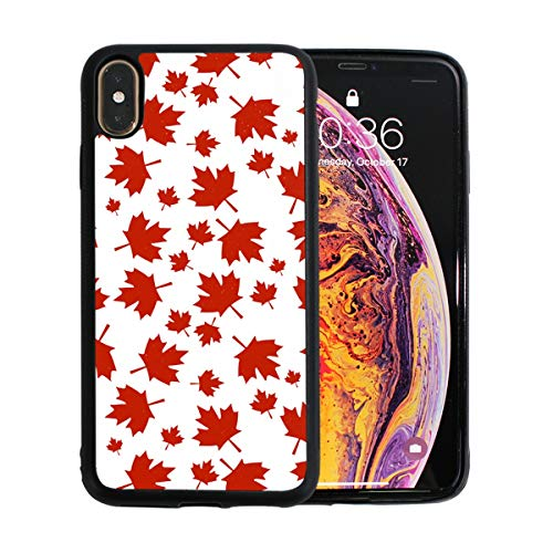 Blue Pearl Toronto (Pure Canadian Maple Leaf iPhone Xs Max Protective Case Soft TPU Pearl Plate Shock Case for iPhone Xs Max 6.5 Inches)