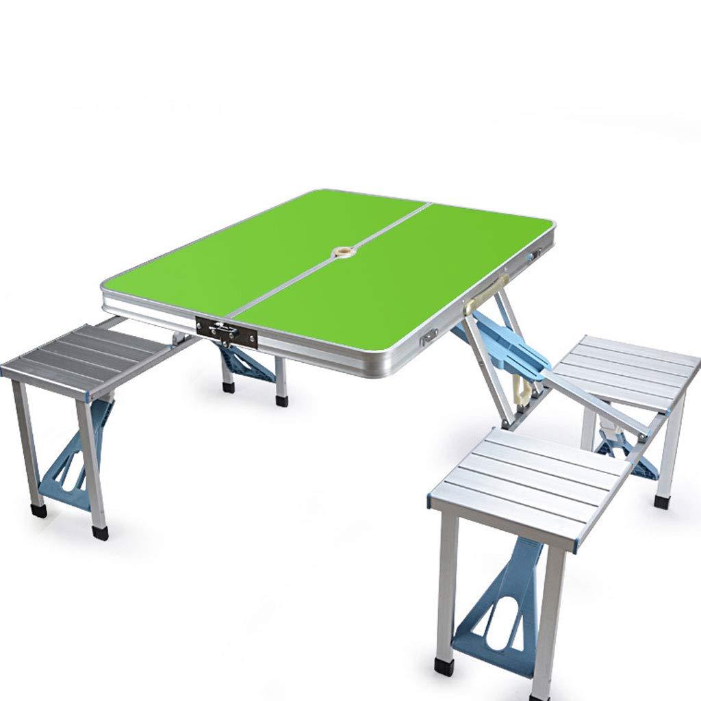 HY 屋外折りたたみテーブルポータブル家庭用アルミダイニングテーブル (色 : Green)  Green B07KT4T5M8
