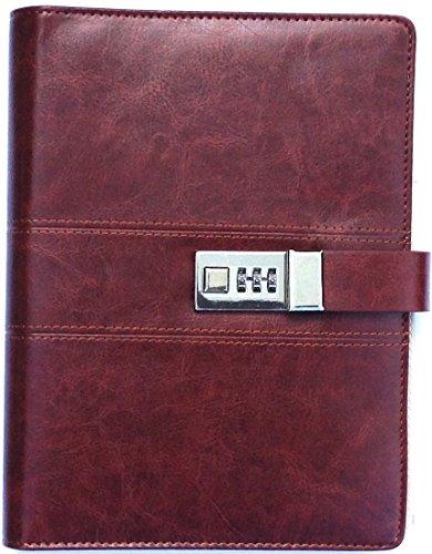 A5 Wine Red Binder Journal With Combination Lock ( Binder...