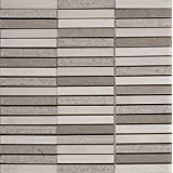 Linea 12 in. x 12 in. x 10 mm Stone Mesh-Mounted Mosaic Wall Tile