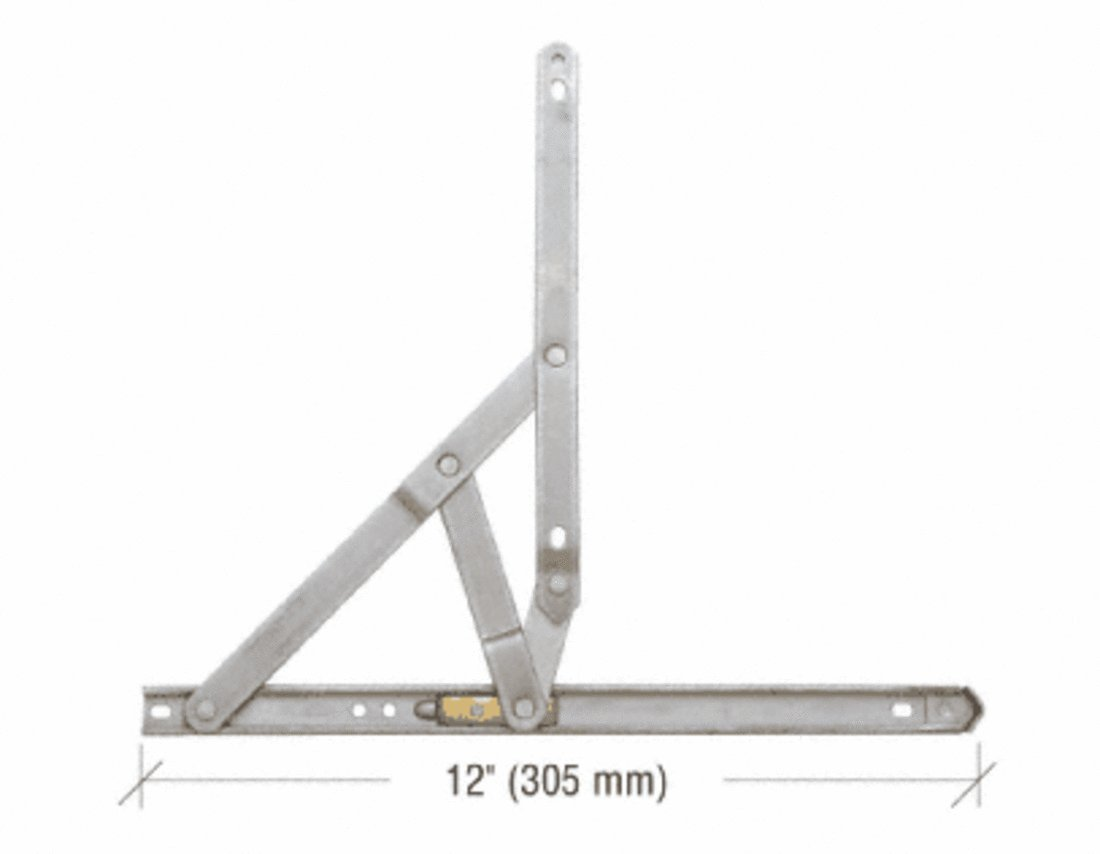 C.R. LAURENCE EP21319 CRL 12'' 4-Bar Standard Duty Stainless Steel 90 Degree Window Hinge by C.R. Laurence