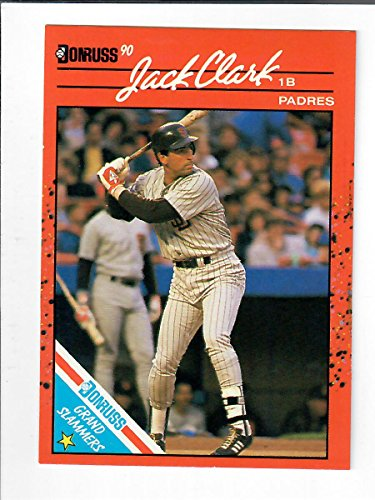 Galleon 1990 Donruss Grand Slammers 11 Jack Clark Baseball Card