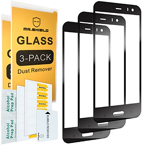[3-Pack]-Mr.Shield for HTC U11 Life [Japan Tempered Glass] [9H Hardness] [Full Cover] Screen Protector with Lifetime Replacement