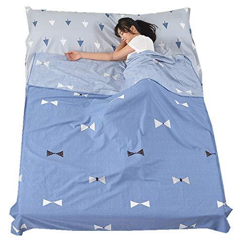 Zhiyuan - Saco de Dormir para Acampada o Viaje, 100% algodón ...