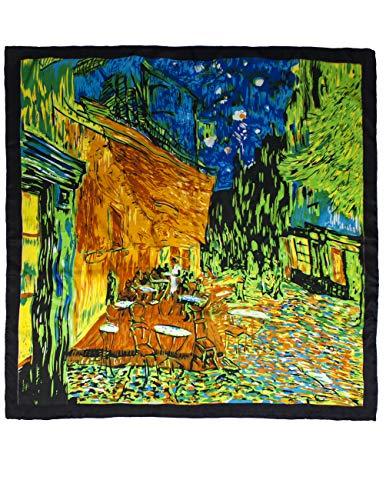 100% Luxury Square Silk Scarf - Van Gogh's