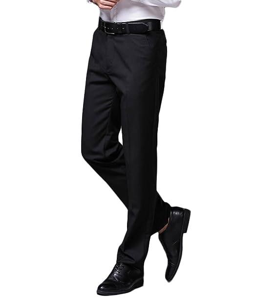 Amazon.com: Botong - Pantalones elásticos sin arrugas para ...