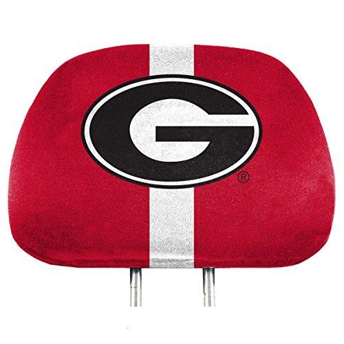 Team ProMark NCAA Georgia Bulldogs Full-Print Head Rest Covers, 2-Pack Bulldog Head