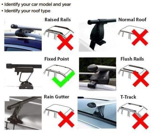 UKB4C Roof Rack Cross Bars fits Vauxhall Opel Combo 2002-2011 w fixing points
