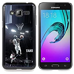 - 10 Bryant Basketball - - Cubierta del caso de impacto con el patr??n Art Designs FOR Samsung Galaxy J3 Queen Pattern
