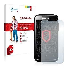 3x Vikuiti MySafeDisplay Protector de Pantalla DQCT130 de 3M para Lenovo A369i