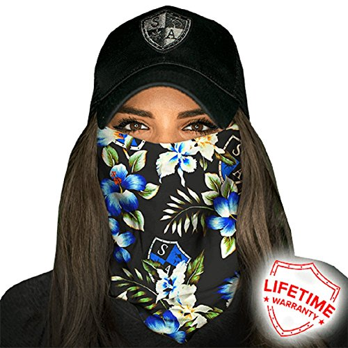 Face Shields for Women! SA CO Official Salt Armour Headbands | Multiple Styles to Choose From | Black Tropical by Salt Armour