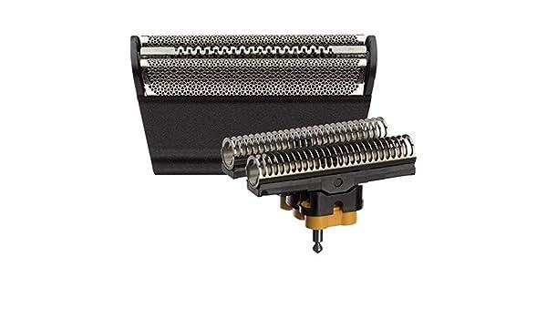 31B - Lámina de afeitar para afeitadora Braun 5000/6000 Series Contour Flex XP Integral Shaver Foil & Cutter Head Replacement Combi Pack Negro: Amazon.es: Belleza