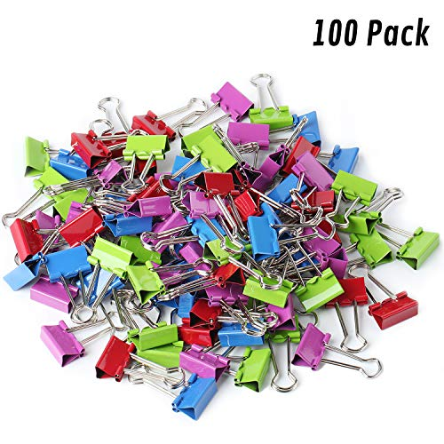 (Mr. Pen- Binder Clips, Small Binder Clips, Pack of 100 Clips, Binder Clips Small, Paper Clips, Office Supplies, Colored Binder Clips, Paper Clamps, Office Clips, Mini Clips, Clips for Paper)