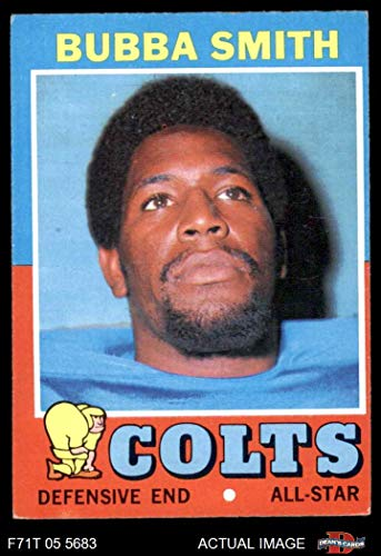 - 1971 Topps # 53 Bubba Smith Baltimore Colts (Football Card) Dean's Cards 5 - EX Colts