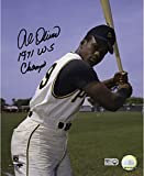 Al Oliver Pittsburgh Pirates Autographed 8'' x 10'' Posing with Bat Photograph with 1971 WS Champ Inscription - Fanatics Authentic Certified