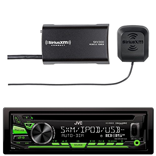 JVC KDR680S Car CD Player Receiver USB AUX Radio - Bundle Combo With SiriusXM SXV300v1 Satellite Radio Connect Vehicle Tuner Kit by EnrockAutomotiveBundle