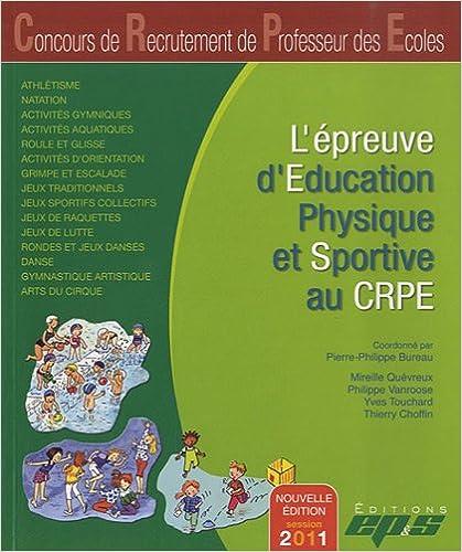 Livres gratuits L'épreuve d'éducation physique et sportive au CRPE pdf