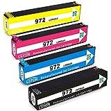 ESTON 4 Pack 972 972A Ink Cartridges F6T80AN L0R86AN L0R89AN L0R92AN for PageWide Pro 352dw 452dn 452dw 377dw 477dn 477dw 552dw 577dw 577z