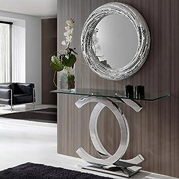 CC Slim Hall Verspiegelt Konsole Diele Tisch Design Poliert