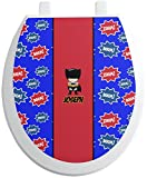 RNK Shops Superhero Toilet Seat Decal - Round (Personalized)