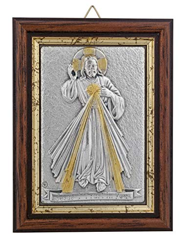 Venerare Devotional Wall Plaque with Wood Frame and Gold Highlights (Divine Mercy) ()