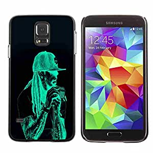 Shell-Star ( Neon Rasta Guy ) Fundas Cover Cubre Hard Case Cover para Samsung Galaxy S5 V SM-G900