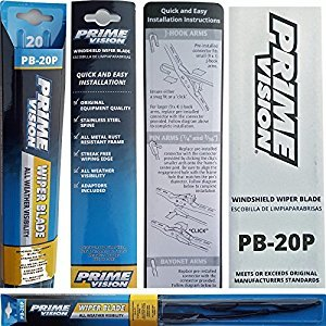 Prime Vision Windshield Wiper Blade All Weather Visibility PB-20P - 20 inch (2 Pack (2 Blades))