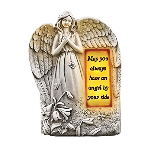 Solar Inspirational Angel Garden Figurine