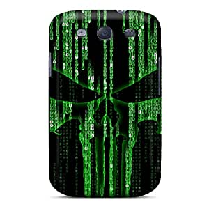 PMv4470BBTa Tpu Phone Case With Fashionable Look For Galaxy S3 - Punisher