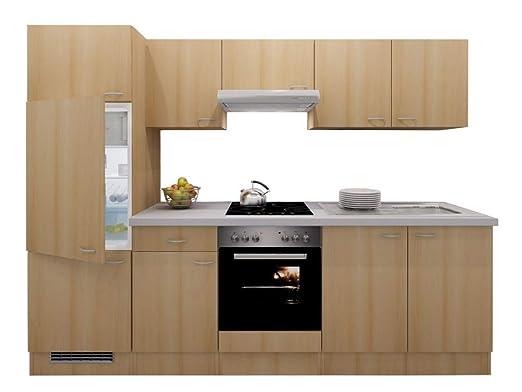 Smart Möbel - Bloque de Cocina (270 cm, Haya, con fogón ...