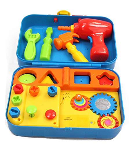 Kidoozie Cool Tools Activity Set - Pretend Play, Shape Sorting, and Fine Motor Activities with Fun Sounds - 18+ Months (Activity Fun Set)