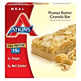 Atkins Meal Bars, Peanut Butter Granola, 1.7 Ounce, 5 Count